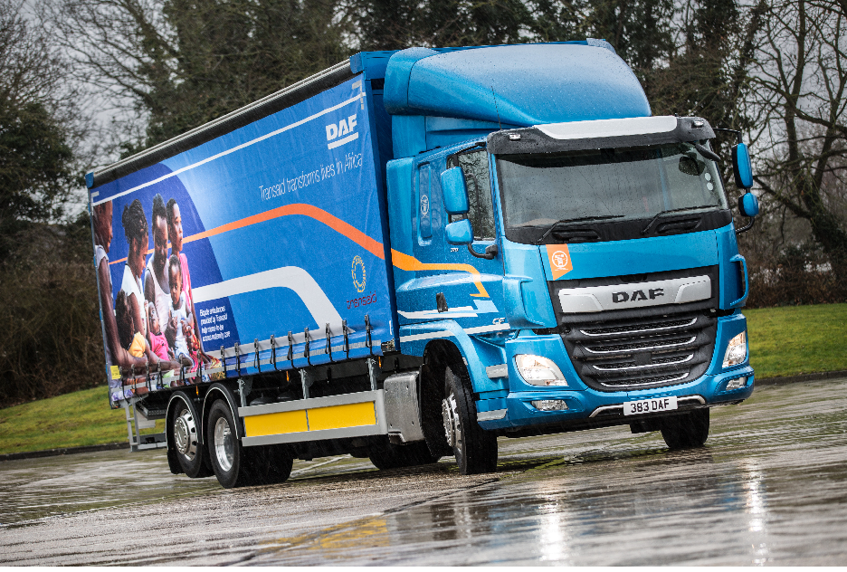 DAF Trucks supplies 6x2 rigid in support of Transport Association and Transaid
