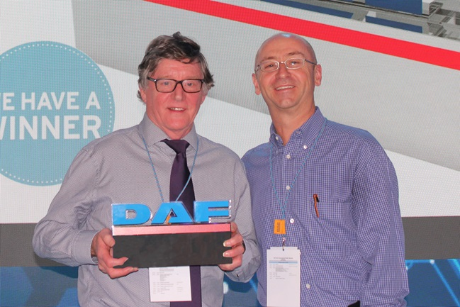 DAF Managing Director's Award 2018 - Peter Fullelove, Dealer Principal Solway DAF and Robin Easton, Managing Director DAF Trucks