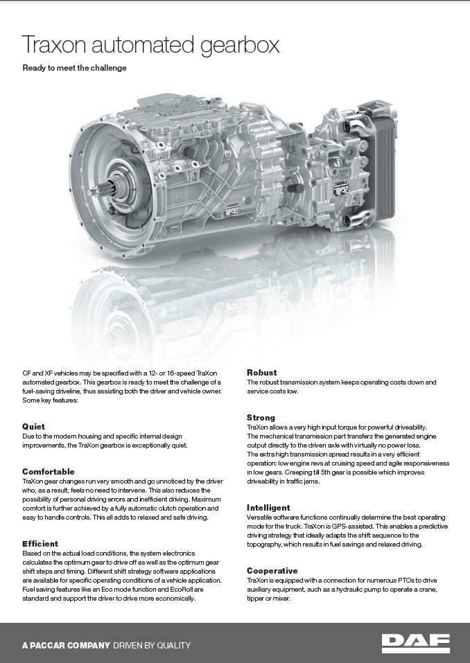 DAF CF Driveline- DAF Trucks Ltd, United Kingdom
