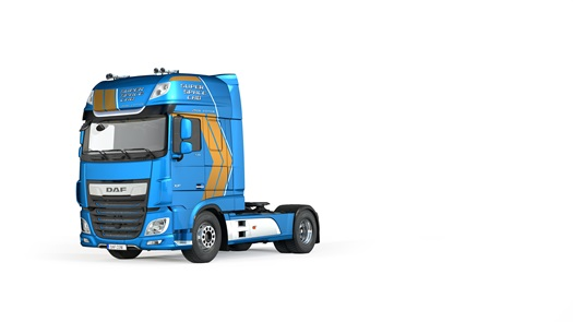 03 DAF Super Space Cab Celebration Edition Jamaica Blue